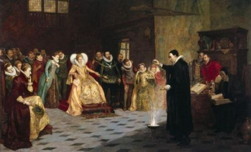 John Dee Demonstrating an Experiment at Court - Artist Unknown