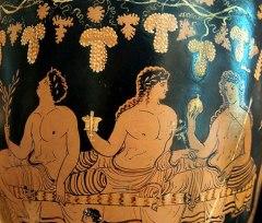Apollo, Dionysus & Hermes-Feasting. C. 450 BC