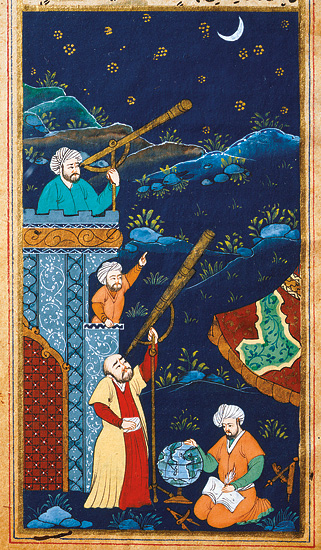 Astronomes_-_miniature_ottomane_XVIIe