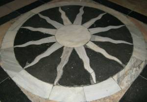 Solar Disk - Church of the sacred tomb in-Jerusalem