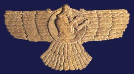 winged_diskAssur. The national deity of Assyria, depicted in this 9th-century BCE