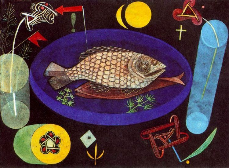 Paul Klee - Around the Fish - Note the Various Symbols