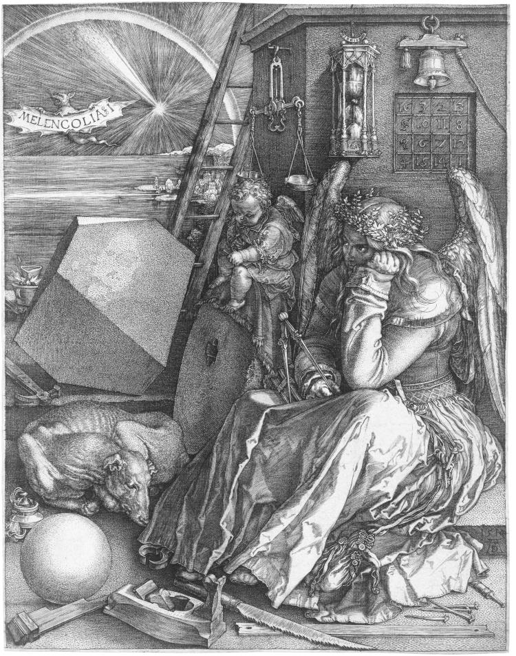 Melencolia I (B. 74; M., HOLL. 75)*engraving *24 x 18.8 cm*1514