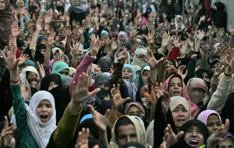 Pakistani Shiite Muslim women shout slogans during a protest to condemn Saturday's bombing in Quetta, Pakistan, Sunday, Feb. 17, 2013. Angry residents on Sunday demanded government protection from an onslaught of attacks against Shiite Muslims, a day after scores of people were killed in a massive bombing that a local official said was a sign that security agencies were too scared to do their jobs. (AP Photo/Arshad Butt)