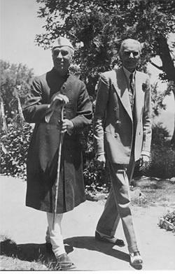 nehrujinnahIndian Independence Photograph of Nehru and jinnah 1947 british library