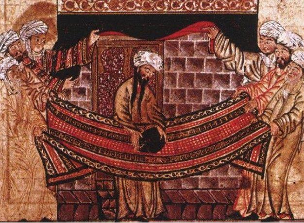 Muhammad with Meterorite