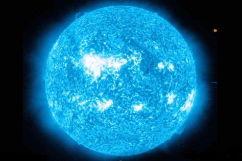 Rigel in relation to our Sun