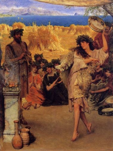 Dancing Bacchante at Harvest Time - Sir Lawrence Alma-Tadema