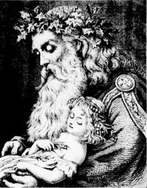 Canadian Father Christmas with Child - 1884