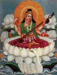 Sarasvatī - Hindu goddesss of Music, Poetry , Nature