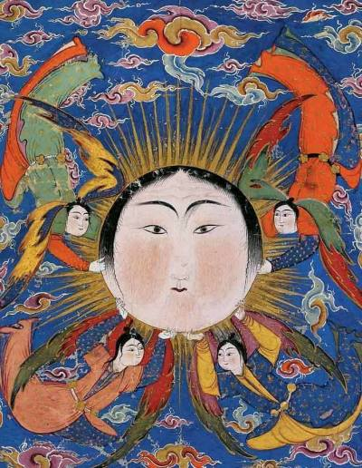 Sun from a Falnama (1580s) watercolor on paper