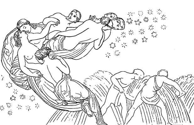 Pleiades - Flaxman illustration fir Work & Days
