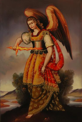Uriel with Sword of Fire by Walter Huacac Santa Cruz
