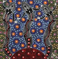 Dreamtime Sisters by Colleen Wallace Nungari - Australian Indigenous art