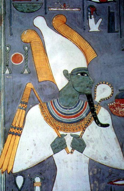 Osiris holding crook and flail