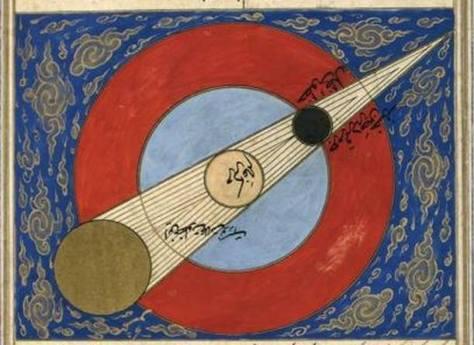 Lunar eclipse by al-Qazwini