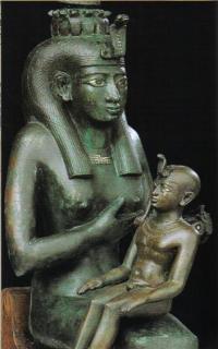 Isis & Horus. (Ptolemaic period?)